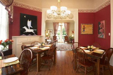The dining room at Maison Perrier Bed & Breakfast in New Orleans
