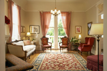 The front parlor room at Maison Perrier Bed & Breakfast of New Orleans